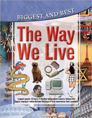 Full size cover page of the book 'Biggest And Best The Way We Live'