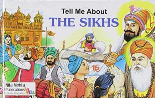 Full size cover page of the book 'Tell Me About The Sikhs'