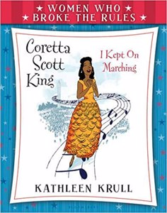 Cover page of the book 'WOMEN WHO BROKE THE RULES : CORETTA SCOTT KING'