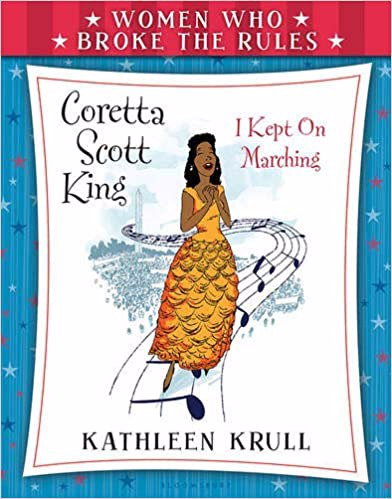 Full size cover page of the book 'WOMEN WHO BROKE THE RULES : CORETTA SCOTT KING'