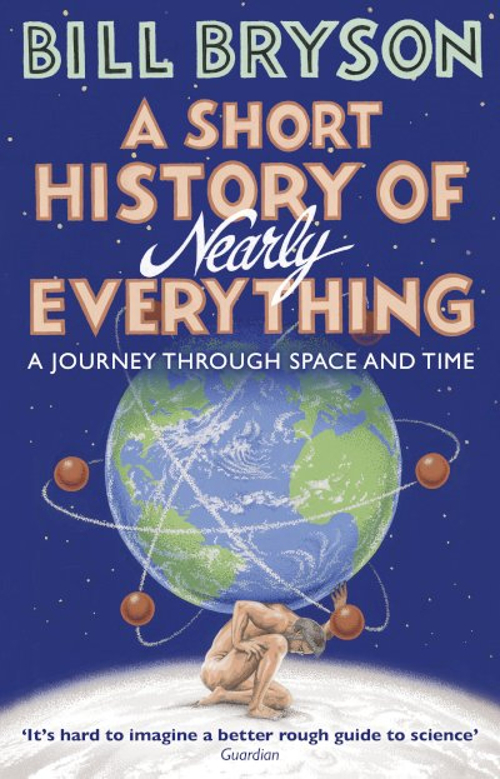 Full size cover page of the book 'SHORT HISTORY OF NEARLY EVERYTHING'