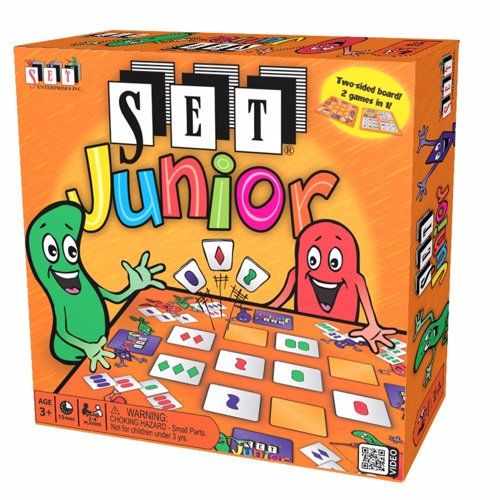 Full size cover page of the book 'SET Enterprises SET Junior- kids educational double sided board game 2-4 pl. multicolour 1300'