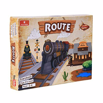 Full size cover page of the book 'Folks Work Route Board Game'