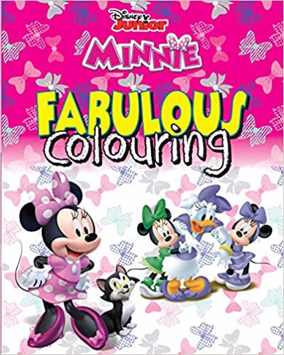 Full size cover page of the book 'DISNEY MINNIE MOUSE  FABULOUS COLOURING'