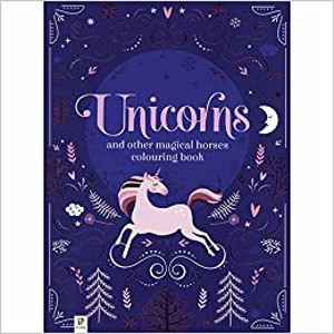 Cover page of the book 'UNICORNS AND OTHER MAGICAL HEROES COLOURING BOOK'
