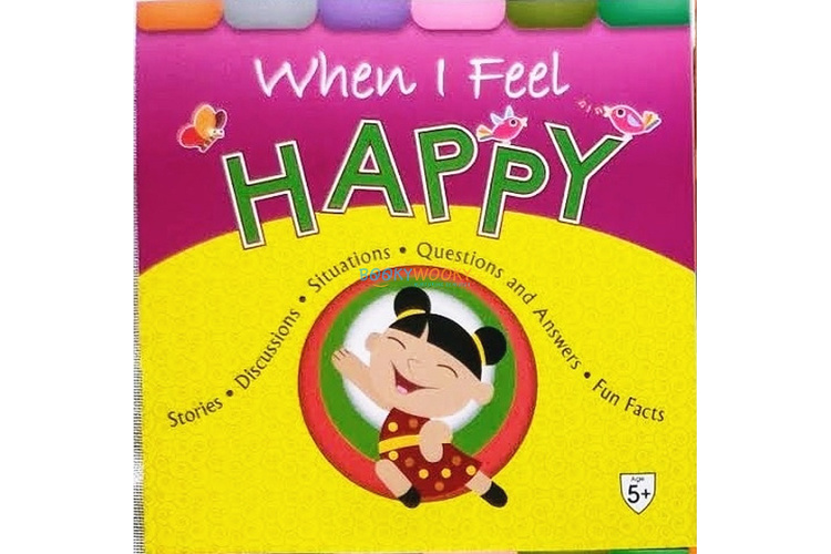 Full size cover page of the book 'WHEN I FEEL HAPPY'