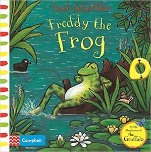 Cover page of the book 'AXEL SCHEFFLER FREDDY THE FROG'