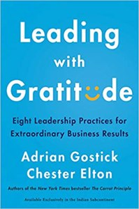 Cover page of the book 'LEADING WITH GRATITUDE'
