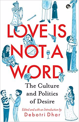 Full size cover page of the book 'LOVE IS NOT A WORD'