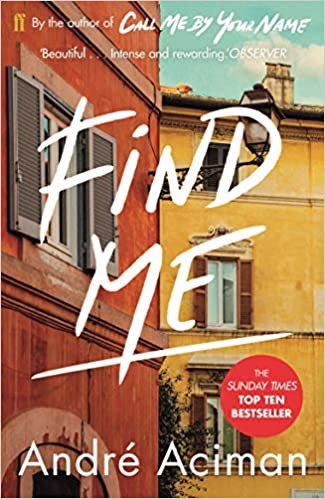 Full size cover page of the book 'FIND ME'