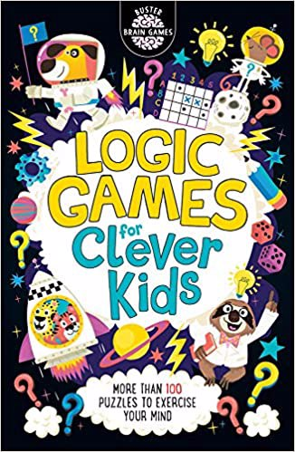 Full size cover page of the book 'LOGIC PUZZLES FOR CLEVER KIDS'