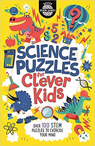 Full size cover page of the book 'SCIENCE PUZZLES FOR CLEVER KIDS'